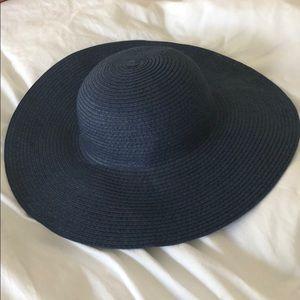 Girls Navy blue sun hat